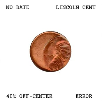 Lincoln Cent Off-Center Strike Error