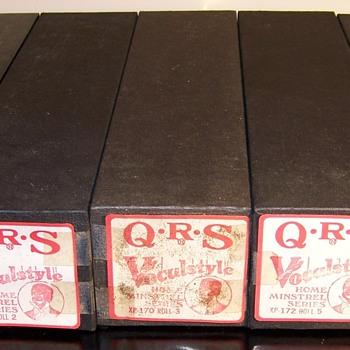 Q.R.S. Vocalstyle Home Minstrel Series  Reproduced Piano Rolls - Music Memorabilia