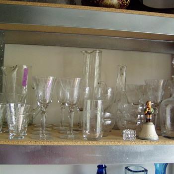 INHERITED ANTIQUE GLASSWARE - Glassware