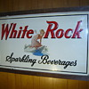 White rock Sparkling beverages sign