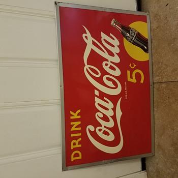 Coca cola sign 5c - Coca-Cola