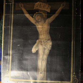 Christ on the Cross with a Hidden Picture Behind it - Fine Art