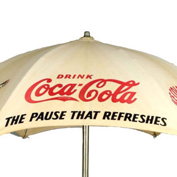 1930's Coca-Cola Umbrella - Coca-Cola