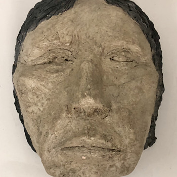 Hand made life size clay face - Fine Art