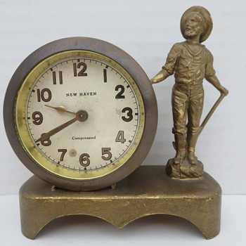 New Haven Miniature Statue Clock - Clocks
