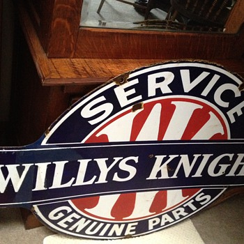 Willys-Knight Double Sided Sign - Advertising