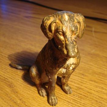 Antique Bronze dog - Animals