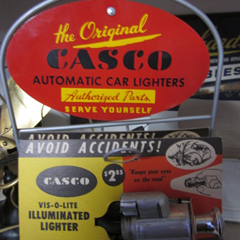 1960's  Casco Car Lighter Counter Top Display - Advertising