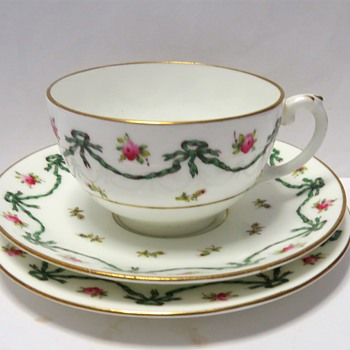 Coalport Trio - Ribbons and Roses - 1891-1920 - China and Dinnerware