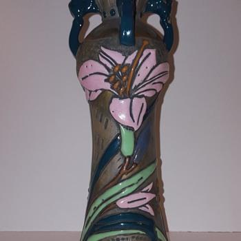 Art Nouveau Turn Austria Amphora Vase