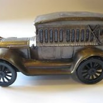 Cast Iron Car Bank 1917 - Coin Operated