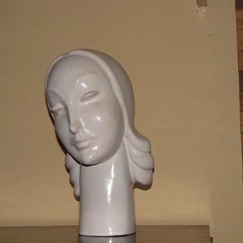 Rare Mountainside Art Pottery Art Deco Bust - Art Deco