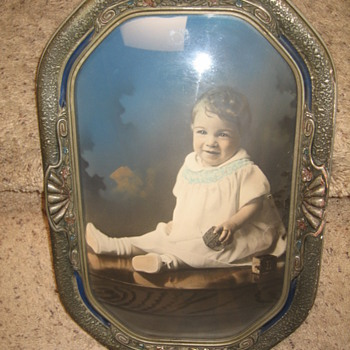 Antique Bubble Frame of Baby Boy - Photographs