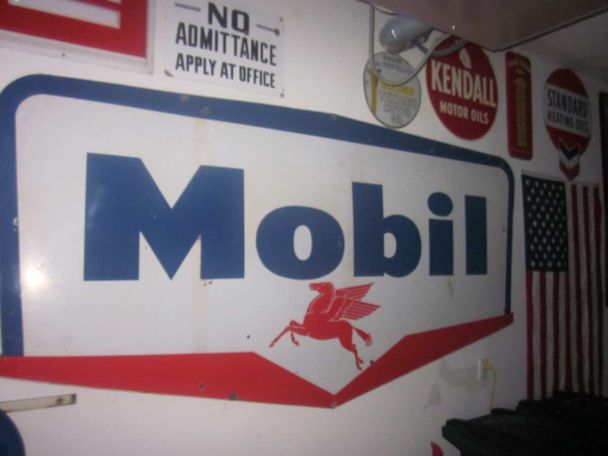 1959 Mobil Oil Porcelain Sign | Collectors Weekly
