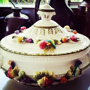 Fruit Decorated Tureen  - China and Dinnerware