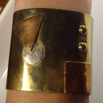 Signed Artisan cuff bracelet.