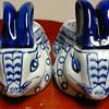 Blue & White  Porcelain rabbits
