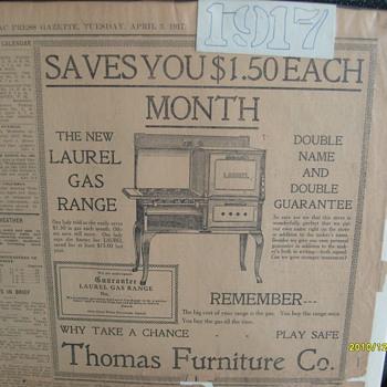 Oringial 1917 News Paper
