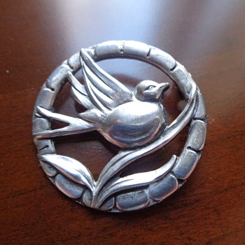 Sterling Bird Pin - Fine Jewelry