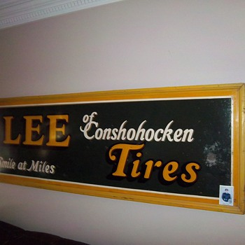 old lee tire tin sign - Signs