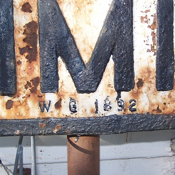 CITY LIMIT railroad sign   1892 - Railroadiana