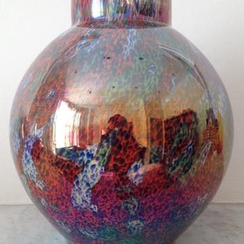 Kralik Iris ball vase - Art Glass