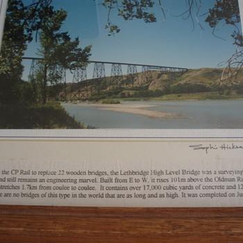 ORIGINAL PHOTO OF CANADIAN PACIFIC RAILWAY BRIDGE - Railroadiana