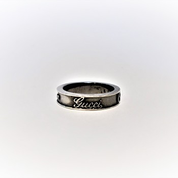 "GUCCI - ITALY  ""STERLING SILVER RING"" - Fine Jewelry"