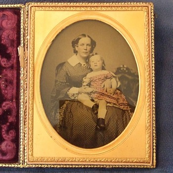 HALF Plate of Mother and Child - Photographs