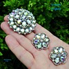 Trifari Aurora Flower Brooch Set