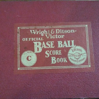 Baseball Score Book - Baseball