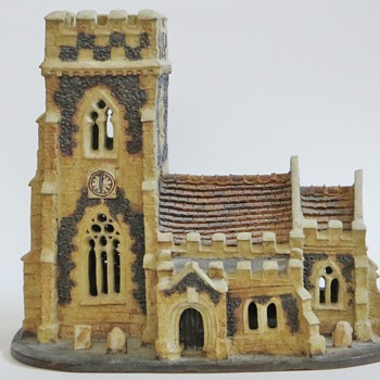 Suffolk England Pottery Church, RB mark. Church and Maker? - Pottery