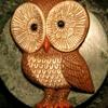 1970s Owl Plaque