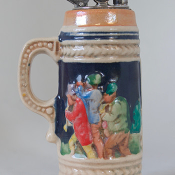German Lighter in Stein Form....... - Tobacciana