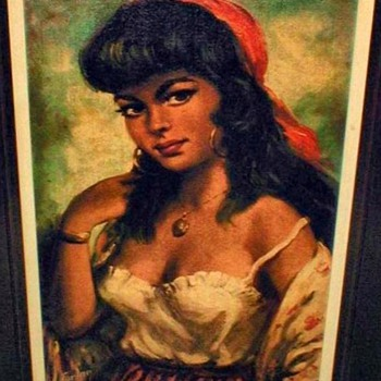 "Torino Print - ""Gypsy Lady"" - Posters and Prints"