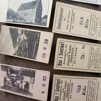 Vintage swedish tickets of some sort - Railroadiana