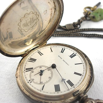 19th Century Bovet Fleurier Silver Pocket Watch with Fob - Pocket Watches