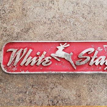 """1950's """"White Stag"""" Sporting Goods / Outdoors Apparel Display Rack Sign! - Advertising"""