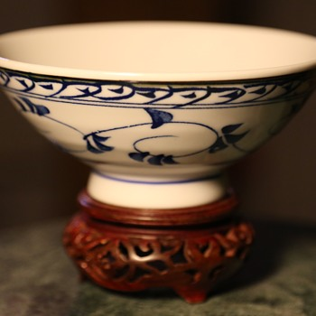 Another Porcelain Rice Bowl - Signed - Japan, i think.