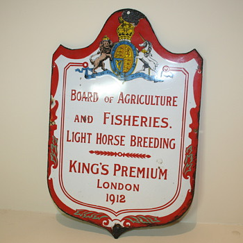 Antique sign Board of Agriculture and fisheries UK - Signs