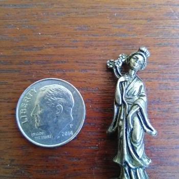 Miniture  brass figurine - Asian
