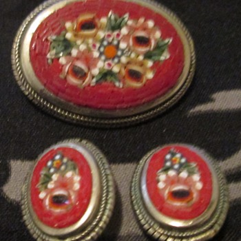 Micro mosaic demi parure - Fine Jewelry
