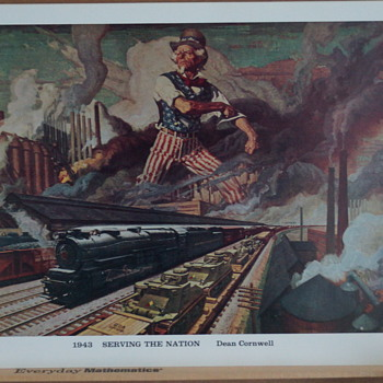More Osborne Co. Calendar Art, Prints PATRIOTIC ONES 1943-1944 - Railroadiana