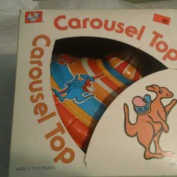 1960's  OHIO ART TIN CAROUSEL TOP FACTORY SEAL MINT CONDITION!