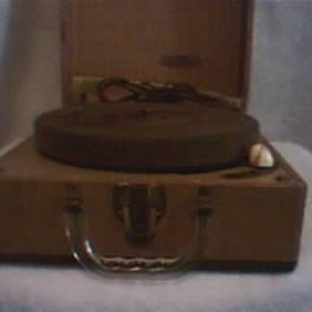 Vintage Mitchell Record Player,plays 33 1/3 45 And 78 - Records