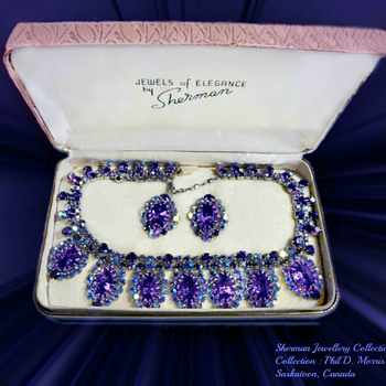 RARE Gustave SHERMAN SIGNED SHERMAN NECKLACE MID 50's, A RARE SET - Costume Jewelry
