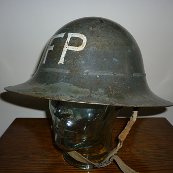 British Civil Defence WWII Fire Party steel helmet 1941