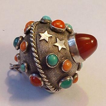 Vintage Multi-stone Orb Pendant - Fine Jewelry