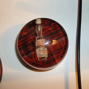 Grant's whiskey paperweight - Advertising