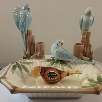 My parakeets (aka budgies) - Art Glass